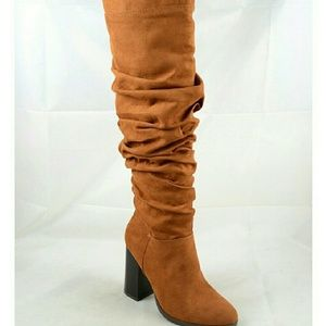 Shoes - Rutched Tall Boots
